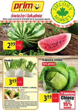 Gazetka promocyjna Prim Market, ważna od 21.04.2016 do 27.04.2016.