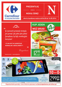 Gazetka promocyjna Carrefour, ważna od 04.05.2016 do 16.05.2016.