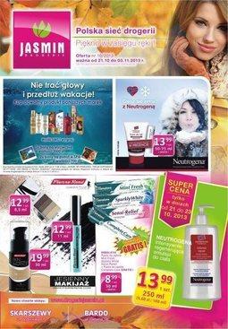 Gazetka promocyjna Jasmin Drogerie, ważna od 21.10.2013 do 03.11.2013.