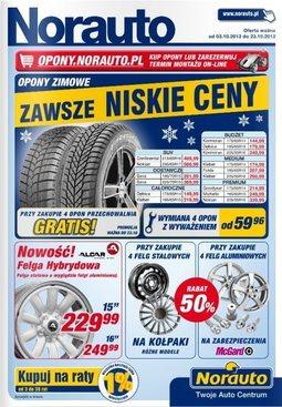 Gazetka promocyjna Norauto, ważna od 03.10.2013 do 23.10.2013.