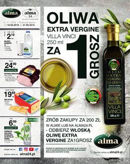 Gazetka promocyjna Alma Delikatesy, ważna od 18.08.2016 do 31.08.2016.