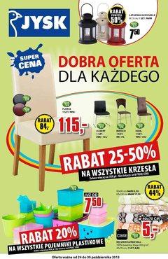 Gazetka promocyjna Jysk, ważna od 24.10.2013 do 30.10.2013.