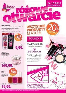 Gazetka promocyjna Hebe, ważna od 24.10.2013 do 30.10.2013.