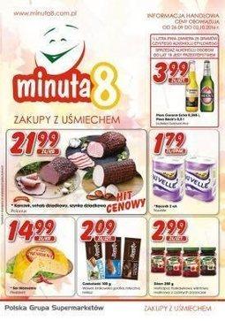 Gazetka promocyjna Minuta 8, ważna od 26.09.2016 do 02.10.2016.