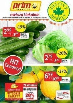Gazetka promocyjna Prim Market, ważna od 29.09.2016 do 05.10.2016.