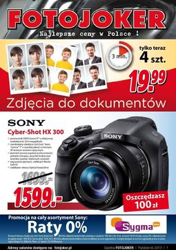 Gazetka promocyjna Fotojoker, ważna od 23.10.2013 do 02.12.2013.