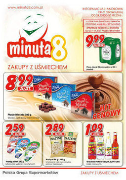 Gazetka promocyjna Minuta 8, ważna od 24.10.2016 do 30.10.2016.