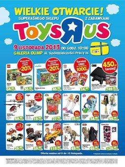 """Gazetka promocyjna Toys""""R""""Us, ważna od 09.11.2013 do 10.11.2013."""