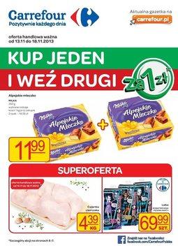 Gazetka promocyjna Carrefour, ważna od 13.11.2013 do 18.11.2013.