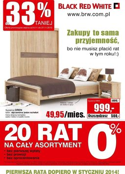 Gazetka promocyjna Black Red White, ważna od 06.11.2013 do 27.11.2013.