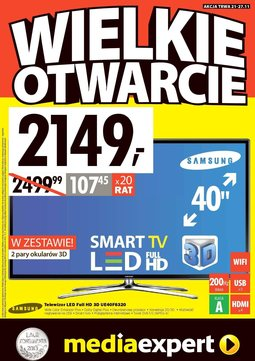 Gazetka promocyjna Media Expert, ważna od 21.11.2013 do 27.11.2013.