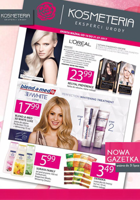 Gazetka promocyjna sieci kosmeteria