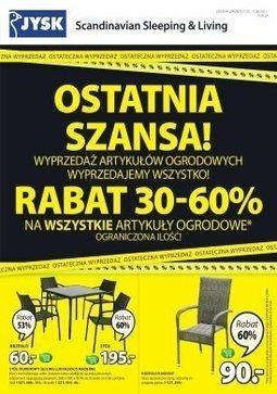 Gazetka promocyjna Jysk, ważna od 27.07.2017 do 09.08.2017.