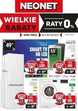 Gazetka promocyjna Neonet, ważna od 03.08.2017 do 09.08.2017.