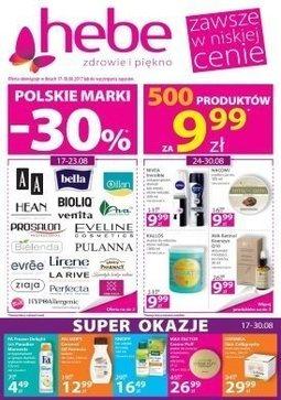 Gazetka promocyjna Drogeria Hebe, ważna od 17.08.2017 do 30.08.2017.