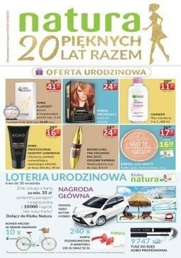 Gazetka promocyjna Drogerie Natura, ważna od 17.08.2017 do 30.08.2017.