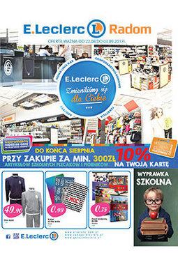 Gazetka promocyjna E.Leclerc, ważna od 22.08.2017 do 03.09.2017.