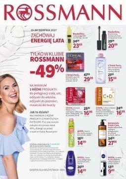 Gazetka promocyjna Rossmann, ważna od 21.08.2017 do 30.08.2017.