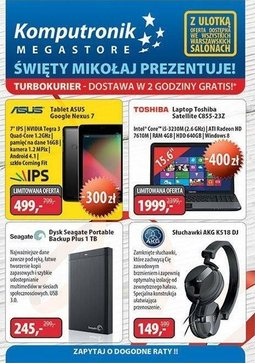 Gazetka promocyjna Komputronik, ważna od 28.11.2013 do 01.12.2013.
