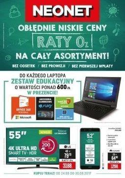 Gazetka promocyjna Neonet, ważna od 24.08.2017 do 30.08.2017.