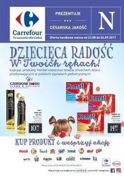 Gazetka promocyjna Carrefour, ważna od 23.08.2017 do 04.09.2017.