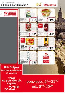 Gazetka promocyjna Selgros Cash&Carry, ważna od 29.08.2017 do 11.09.2017.