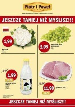 Gazetka promocyjna Piotr i Paweł, ważna od 29.08.2017 do 03.09.2017.