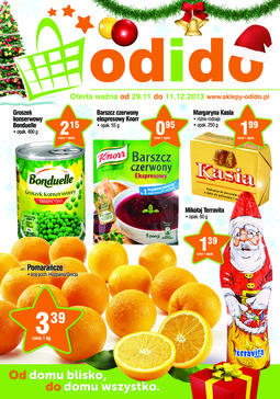 Gazetka promocyjna ODIDO, ważna od 29.11.2013 do 11.12.2013.