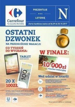 Gazetka promocyjna Carrefour, ważna od 06.09.2017 do 02.10.2017.