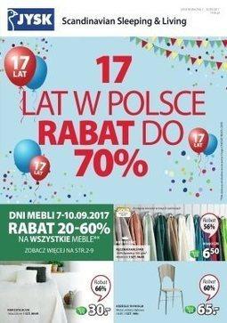Gazetka promocyjna Jysk, ważna od 07.09.2017 do 20.09.2017.