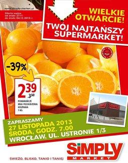 Gazetka promocyjna Simply Market, ważna od 27.11.2013 do 04.12.2013.