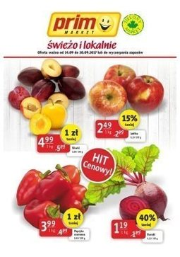 Gazetka promocyjna Prim Market, ważna od 14.09.2017 do 20.09.2017.