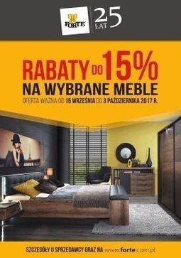 Gazetka promocyjna Forte, ważna od 15.09.2017 do 03.10.2017.