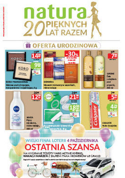 Gazetka promocyjna Drogerie Natura, ważna od 28.09.2017 do 11.10.2017.