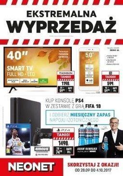 Gazetka promocyjna Neonet, ważna od 28.09.2017 do 04.10.2017.