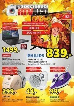 Gazetka promocyjna Specjaliści RTV AGD, ważna od 04.10.2017 do 31.10.2017.