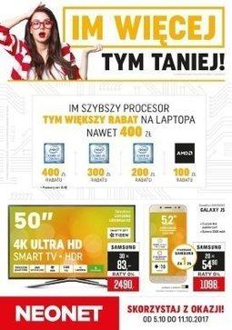 Gazetka promocyjna Neonet, ważna od 05.10.2017 do 11.10.2017.