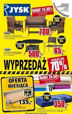 Gazetka promocyjna Jysk, ważna od 04.07.2013 do 17.07.2013.
