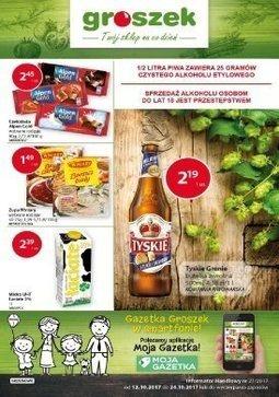 Gazetka promocyjna Groszek, ważna od 12.10.2017 do 24.10.2017.