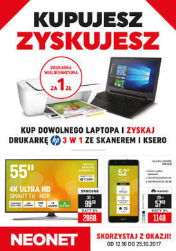 Gazetka promocyjna Neonet, ważna od 12.10.2017 do 25.10.2017.