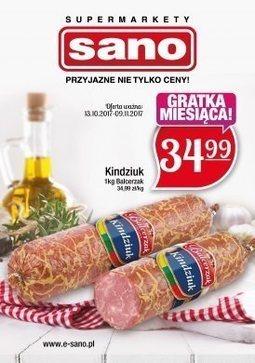 Gazetka promocyjna Sano, ważna od 13.10.2017 do 09.11.2017.