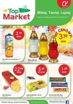 Gazetka promocyjna Top Market, ważna od 23.10.2017 do 29.10.2017.