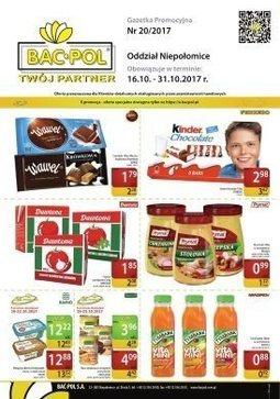 Gazetka promocyjna Bać-Pol, ważna od 16.10.2017 do 31.10.2017.