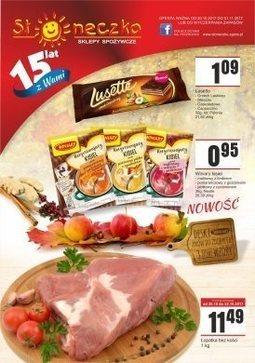 Gazetka promocyjna Słoneczko, ważna od 20.10.2017 do 01.11.2017.