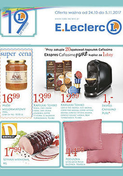 Gazetka promocyjna E.Leclerc, ważna od 24.10.2017 do 05.11.2017.