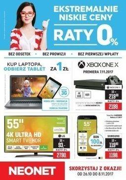 Gazetka promocyjna Neonet, ważna od 26.10.2017 do 08.11.2017.
