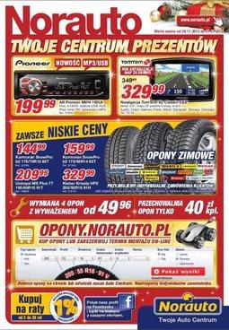 Gazetka promocyjna Norauto, ważna od 28.11.2013 do 01.01.2014.