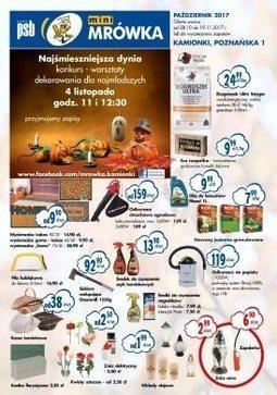 Gazetka promocyjna PSB Mrówka, ważna od 28.10.2017 do 19.11.2017.