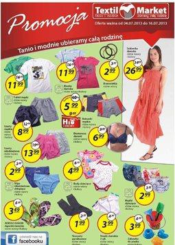 Gazetka promocyjna Textil Market, ważna od 04.07.2013 do 16.07.2013.