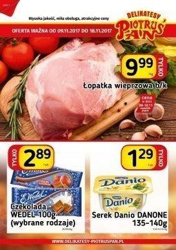 Gazetka promocyjna Piotruś Pan, ważna od 09.11.2017 do 18.11.2017.
